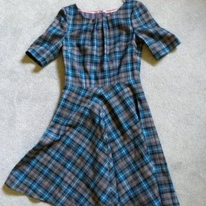 Boden Plaid Wool Dress EUC Worn Once